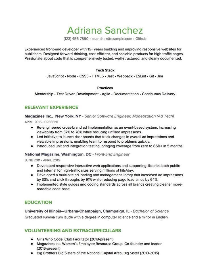 Combination Resume in 2020 Resume