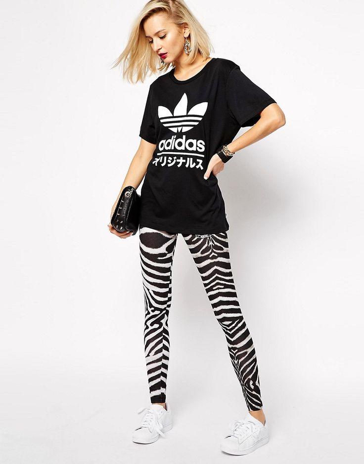 Image 1 ofAdidas Originals Zebra Leggings