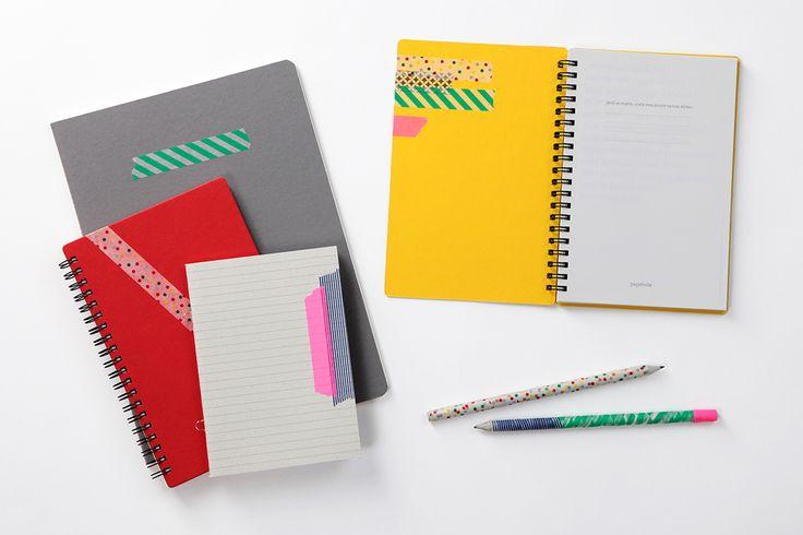 MT pásky, Mt tapes, washi tapes, japonské dekorační lepicí pásky z rýžového papíru, transparentní, popisovatelné, odnímatelné, designové, hravé dekorace, papelote - nové české papírnictví, sešity, bloky, tužky, notebooks, notepads, pencils