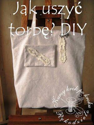 Free Sewing Pattern bag. Jak uszyć torbę na zakupy, ze skórzanym dnem? DIY – zrobisz sam