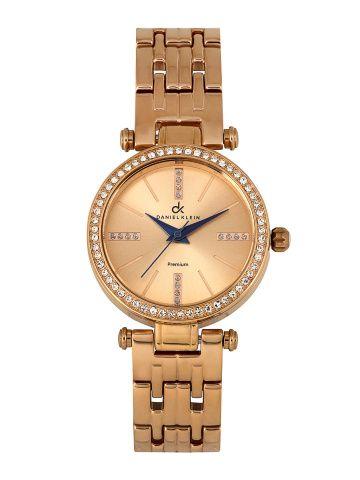 Daniel Klein Women Rose Gold Toned Dial Watch DK10244