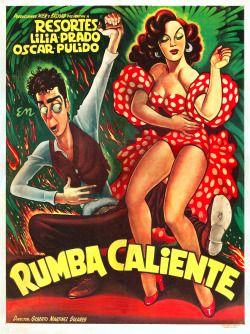 gameraboy: Rumba Caliente (1952), poster by Ernesto Garcia Cabral