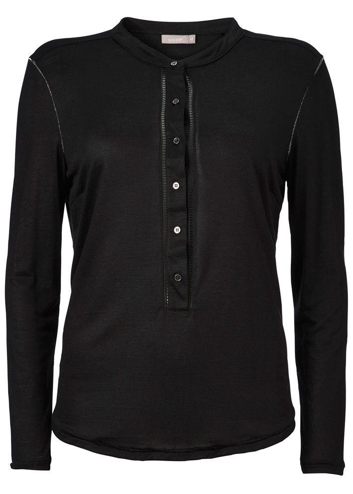 Gustav Jersey Shirt 16702 black – acorns