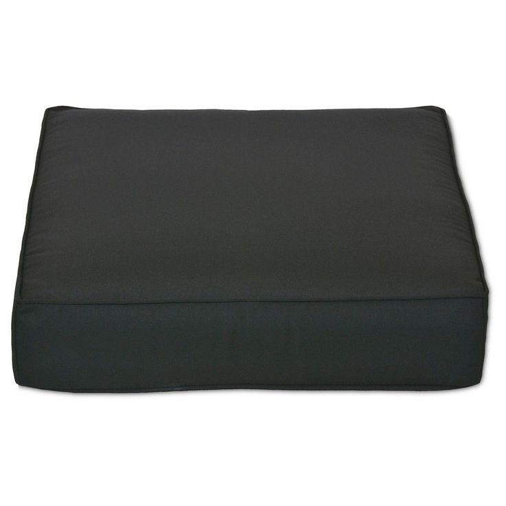 Outdoor Sunbrella Deep Seating Cushion Solid-Smith & Hawken, Black