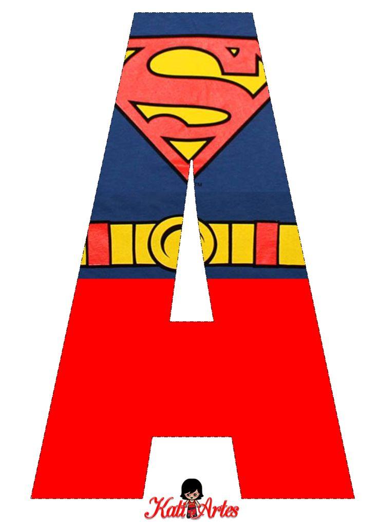 Lindo Alfabeto de Superman Gratis. | Oh my Alfabetos!