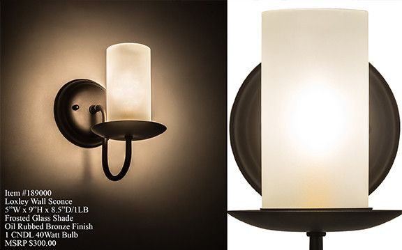 """5""""W Loxley Traditional Wall Sconce"""