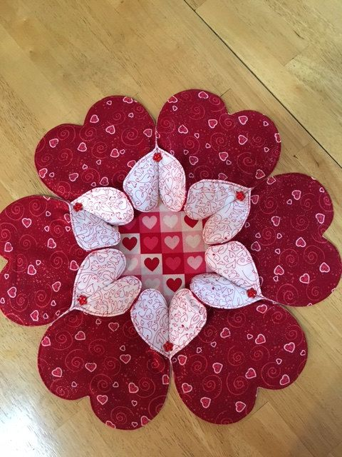 Heart to Heart Table Topper by SueTocCreativeHands on Etsy