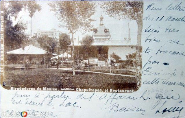 Un Restaurante en El Bosque de Chapultepec ( Fechada en Agosto de 1902 )