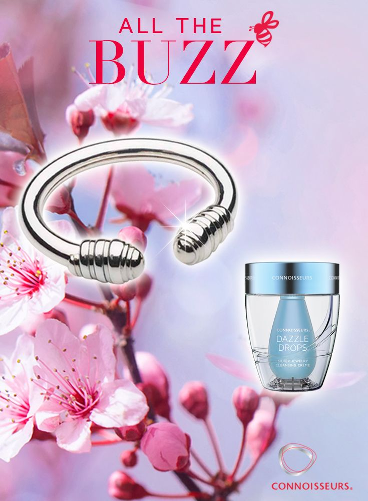 All the Buzz Giveawayt!  You could WIN all 3 of our Dazzle Products & a Sterling Silver Beehive Bangle by Dorfman Sterling - Jewelry Contest http://connoisseurs.com/contest-mar17LMP.htm