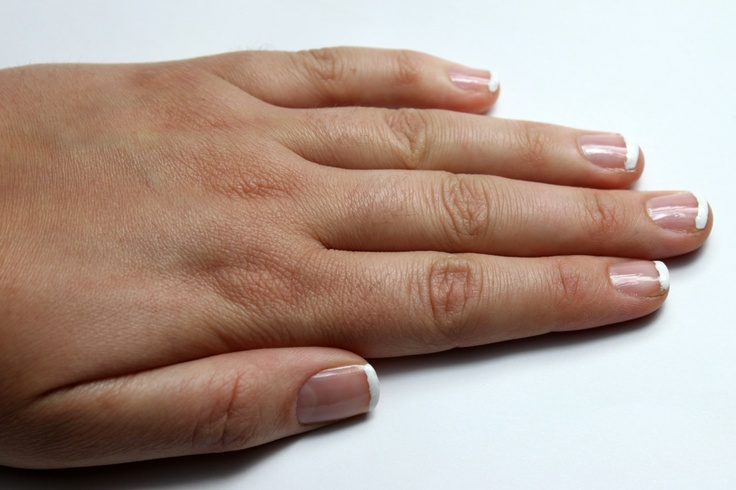 How to do your own french manicure with stickers