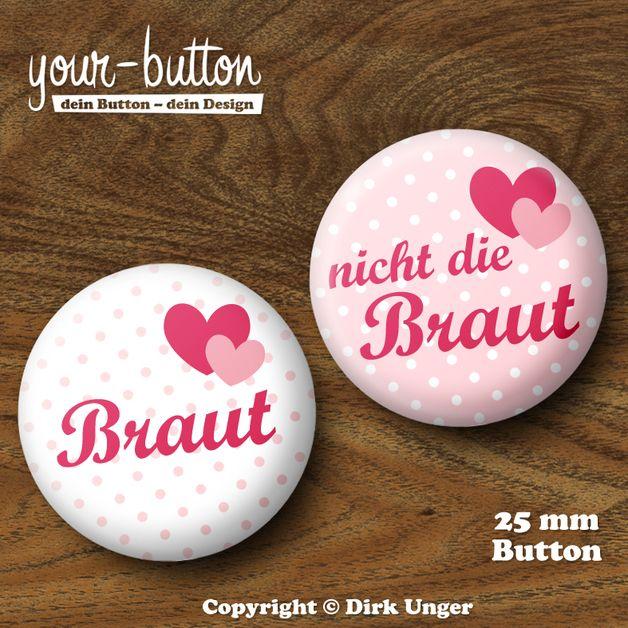25mm Button Junggesellinnenabschied, JGA, Hochzeit