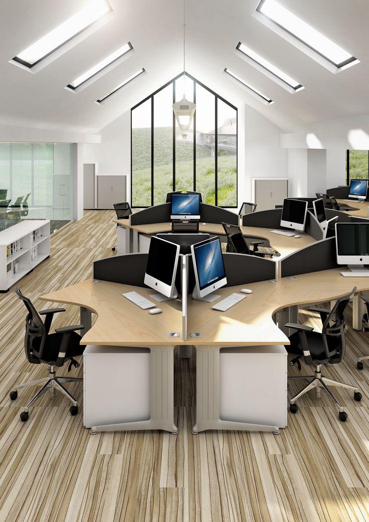kassini 120 degree office desk by elite office furniture