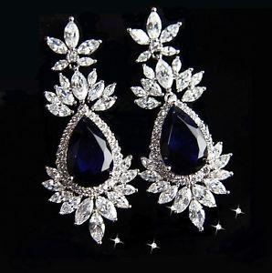 Klassische große Ohrringe, XXL, Luxury Brand, Transparent Strass, NEU | eBay