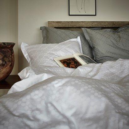 -To sleep well.  dots, hvit - georg jensen damask   via damask