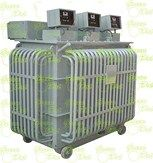 The three phase units of Type ISD-30 & OSD-30 would consist of a 3 phase Variable Transformer driven from one Servo Motor coupled to the common shaft of three ganged assembly of coils, actuated from one control. In these types, three stabilizer units operate simultaneously with sending from one phase, and these are recommended only where supply & load are balanced.