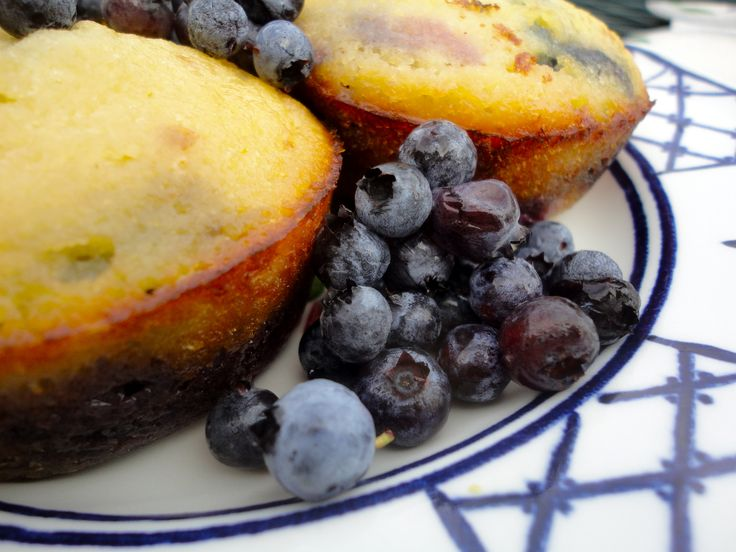 Scrumptious No-Sugar Blueberry Muffins with Organic Coconut Flour.