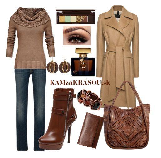 Modré firle s hnedou na bežný deň #kamzakrasou #sexi #love #jeans #clothes #coat #shoes #fashion #style #outfit #heels #bags #treasure #blouses #dress