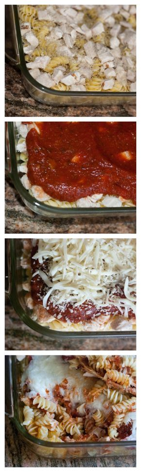 Chicken Parmigiana Casserole. An easy recipe for when you need something quick for dinner.