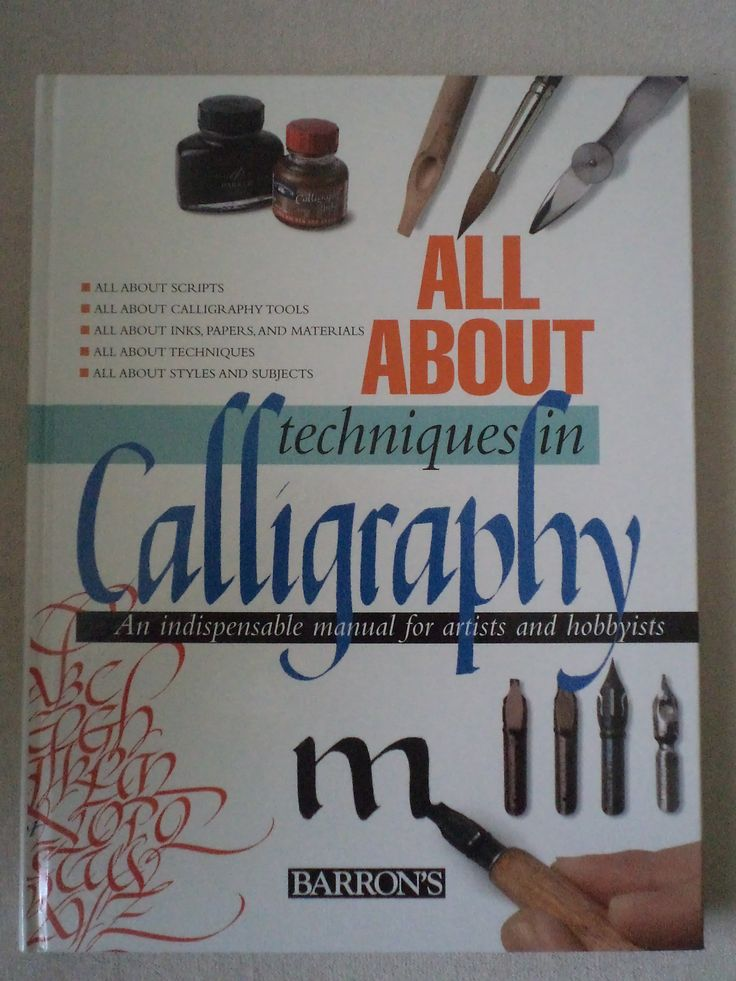 52 Best Images About Calligraphy Books On Pinterest