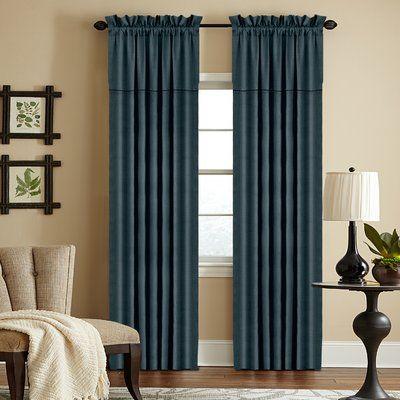 "Red Barrel Studio Hank Solid Semi Sheer Rod Pocket Curtain Panel Size: 50"" x 108"" , Color: Carcoal"
