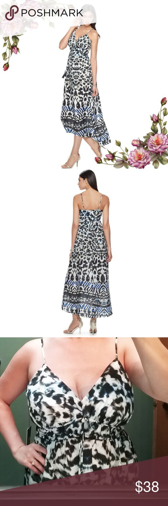 MAKE AN OFFER ;) Print Cami hi - low Maxi Dress Has elastic in the front on waistline.  Size M  is available in separate listing. Jennifer Lopez Dresses Maxi