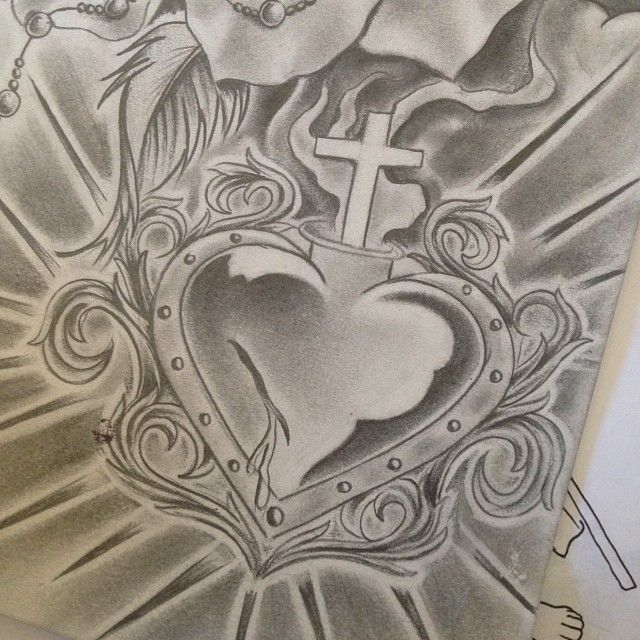 christian cross sketches - photo #34