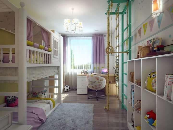 дизайн детской комнаты для двух девочек: 14 тыс изображений найдено в Яндекс.Картинках