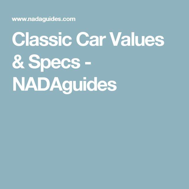 Classic Car Values & Specs - NADAguides