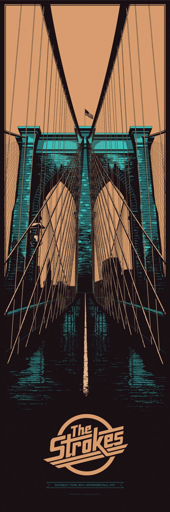THE STROKES - BROOKLYN BRIDGE GIG POSTER by Ken Taylor