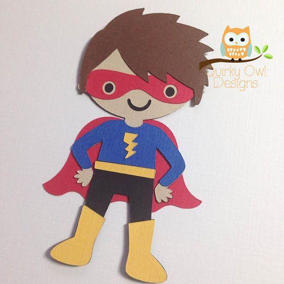 Superhero Paper Embellishment ~ Super Hero Party Decor ~ Superhero Die Cut, Superhero Paper Decorations, Super hero Paper Cut Out, DIY Party