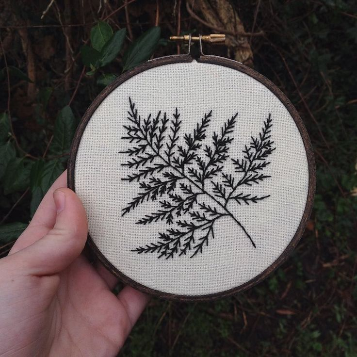 """Commissioned lil fern for @anaconda_ #embroidery #handembroidery #crafts #homedecor #lllilllstitches"""