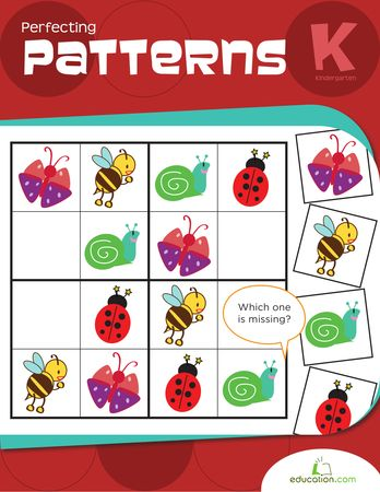 Perfecting Patterns (Pre-K, 22 pages total) | Printable Workbook | Education.com