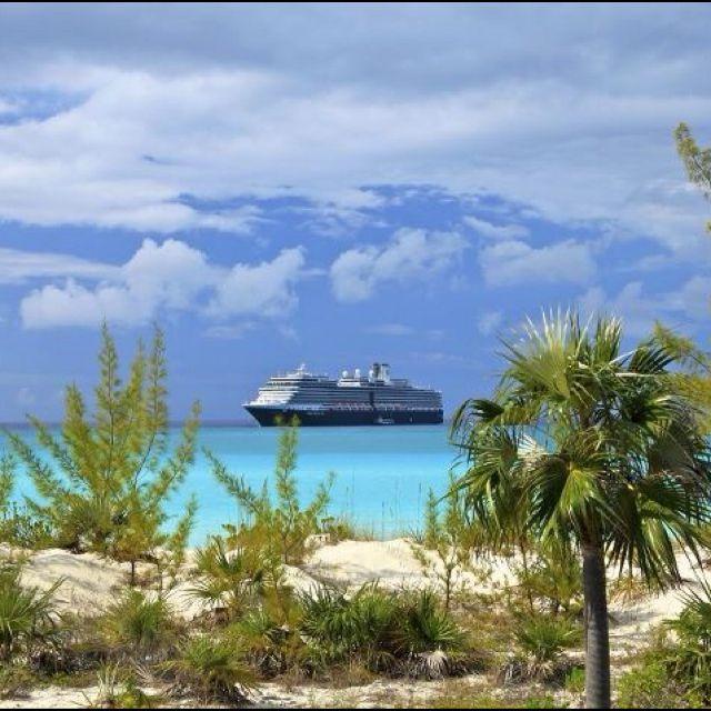 Holland America at Halfmoon Cay