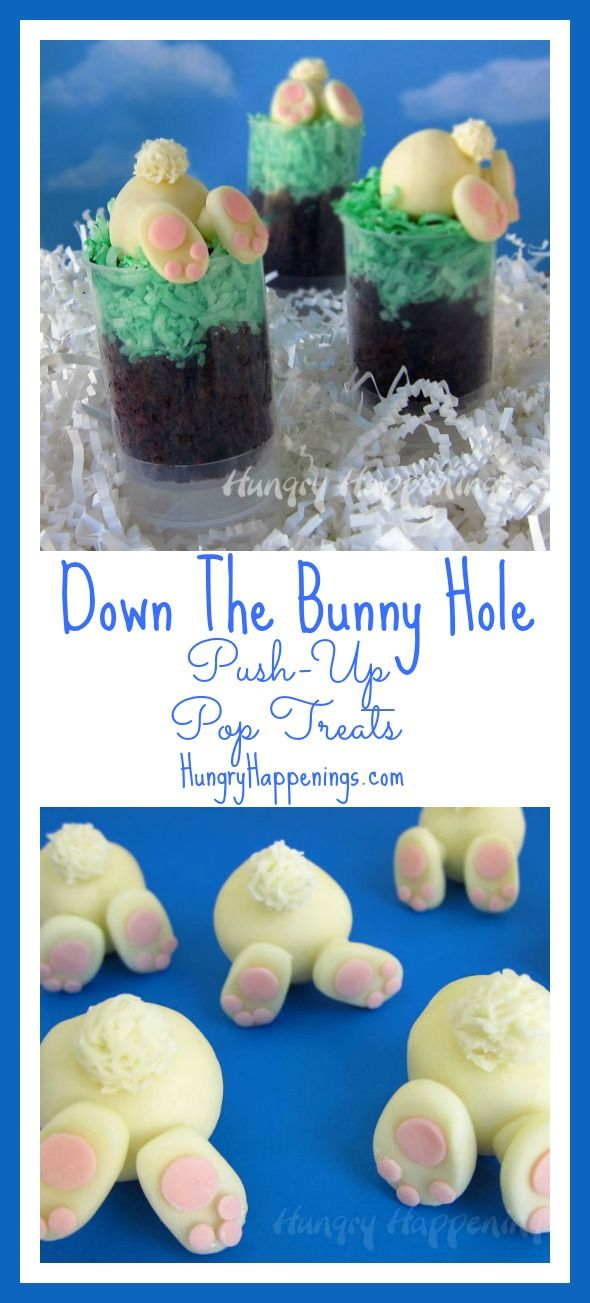 109 best bunny birthday and easter images on pinterest bunny down the bunny hole push up pop treats negle Images