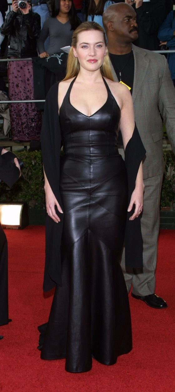 Kate Winslet Leather Dress Leder Pinterest Leather