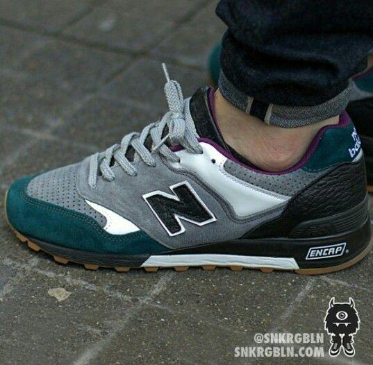 New Balance Teal Grey gum bottom