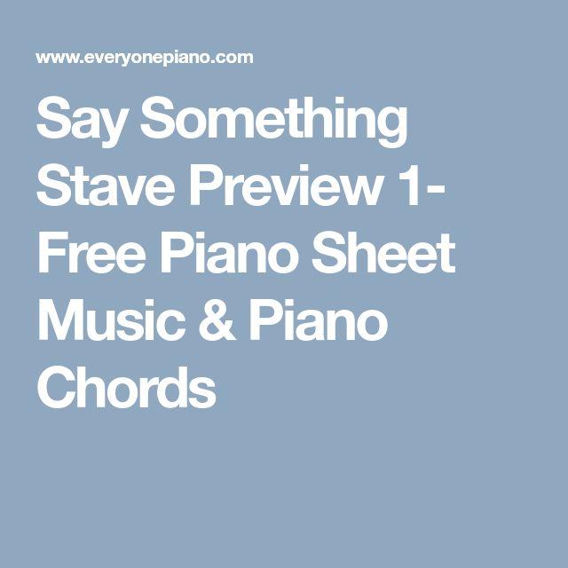 say something sheet music for piano pdf