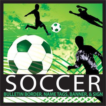 "Sports are an important part of the school experience and a good hook to draw interest in a topic. With this product you can decorate your bulletin boards with soccer themed borders to visually enhance displays, engage students interest, and target themes for certain times of the year, like soccer season or during soccer events at your school.This product includes 1 soccer bulletin board sized 10.5 X 2.25, 3 editable name tags, ""soccer team"" banner, 1 editable banner, and an editable…"
