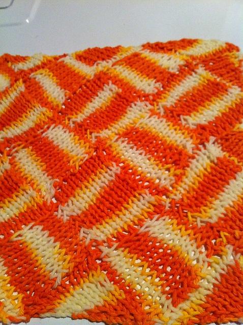 Entrelac Knitting Dishcloth Pattern : 17 beste afbeeldingen over Afwaslappen breien / Dishcloth knitting op Pintere...