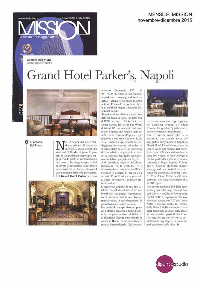 MISSION, la rivista dei viaggi d'affari leader nel settore del business travel dedica al nostro Hotel un bellissimo articolo