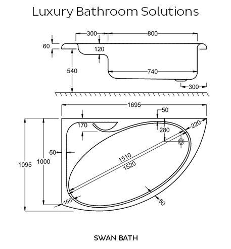 Beste Ideeën Over Bathtub Dimensions Op Pinterest Complete - Corner bathtub dimensions standard