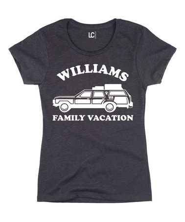 Another great find on #zulily! Heather Charcoal 'Family Vacation' Personalized Crewneck Tee #zulilyfinds