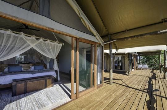 Tented room at Tubu Tree Camp (Okavango Delta, Botswana). If that looks like a place you wanna go to - just let us know: info@gondwanatoursandsafaris.com