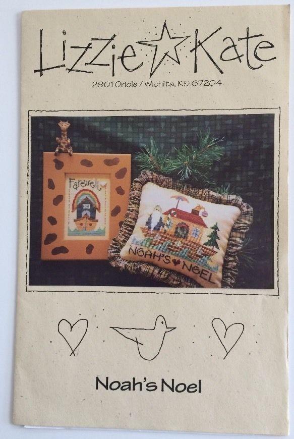 Lizzie Kate Cross Stitch Chart Pattern Noah's Noel Farewell 2 Designs Ark Xmas | eBay