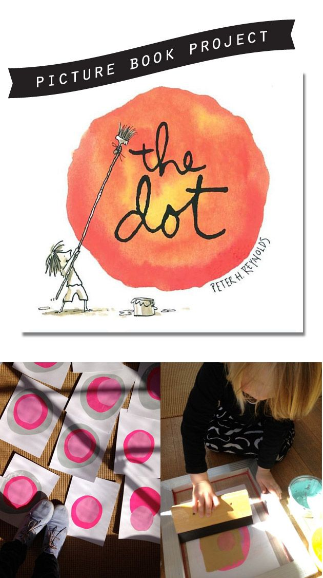 Great projects to share with your children after reading, The Dot by Peter H. Reynolds... *Cultivate creative thinking by helping your child bring a book to life with art...