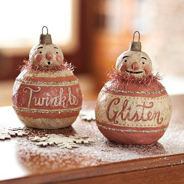 Who would've thought!  Do-it-yourself vintage ornaments!  Here's the link  http://www.bhg.com/christmas/ornaments/make-a-19th-century-inspired-ornament/