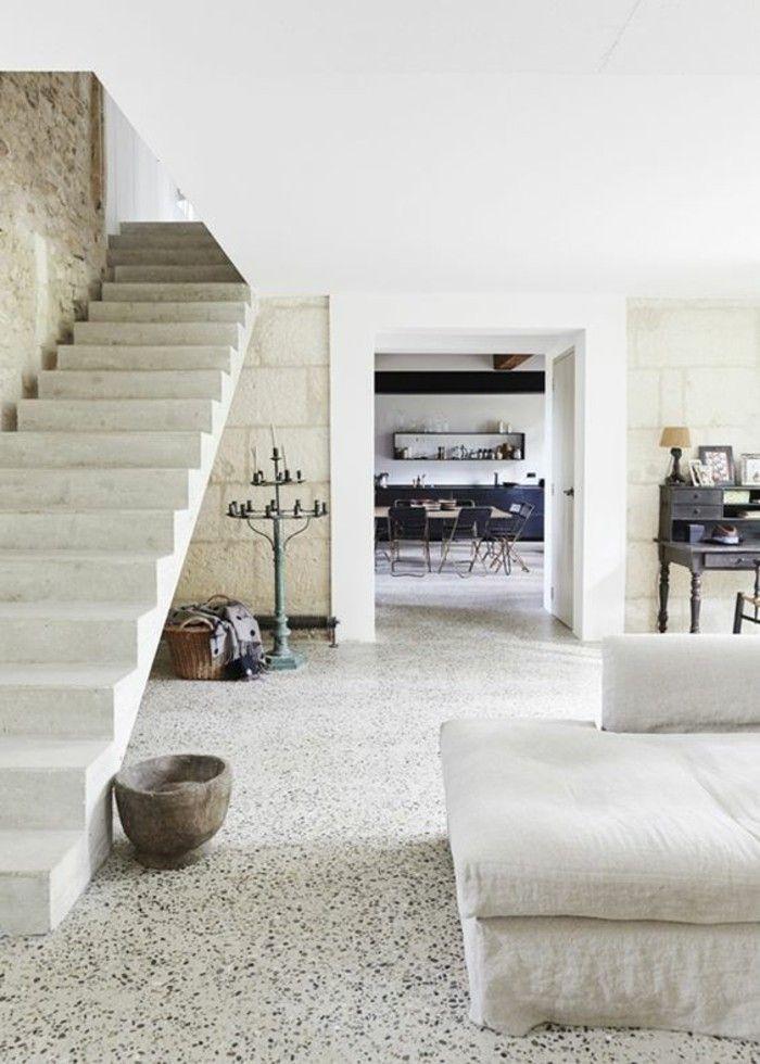 lastryko podłoga salon jadalnia schody stylownik   Moderne ...