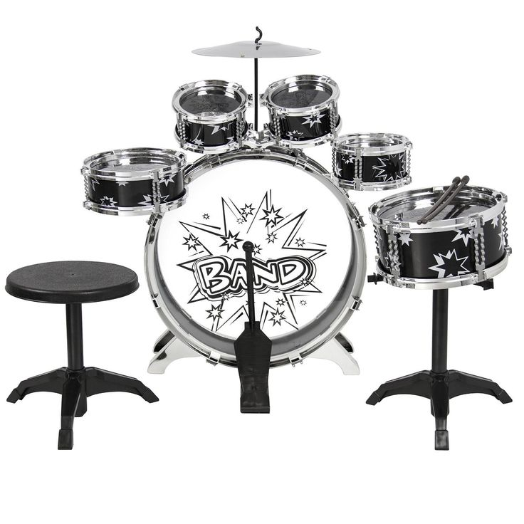 Best Choice Products 11 Piece Kids Drum Set Kids Toy Musical Instrument W/ Bass Drum, Tom Drums, Cymbal, Stool, Drumsticks Drum Kit