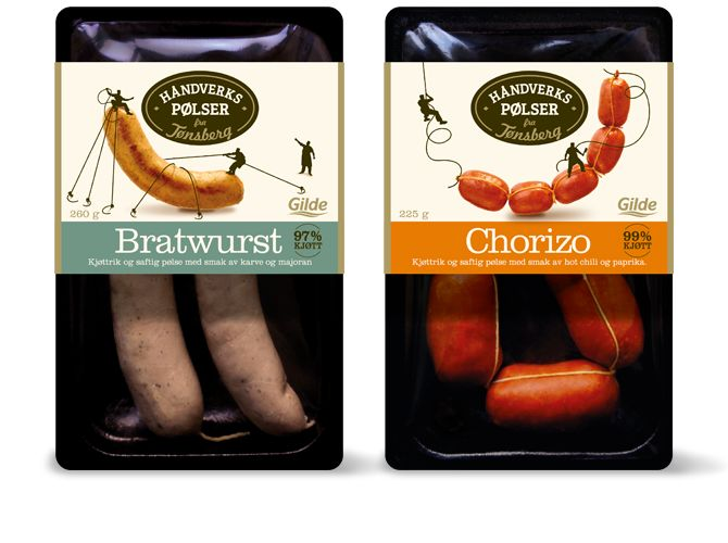 Funny sausages, be sure and look closely at the illustrations #packaging PD