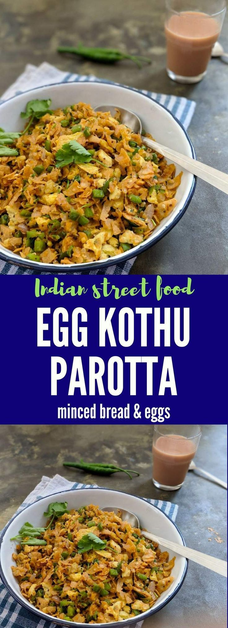 Easy breakfast made using leftover bread / roti, scrambled eggs, onions and spices  - #Leftovers #egg #Indianeggrecipes - Indian egg recipes - #breakfast